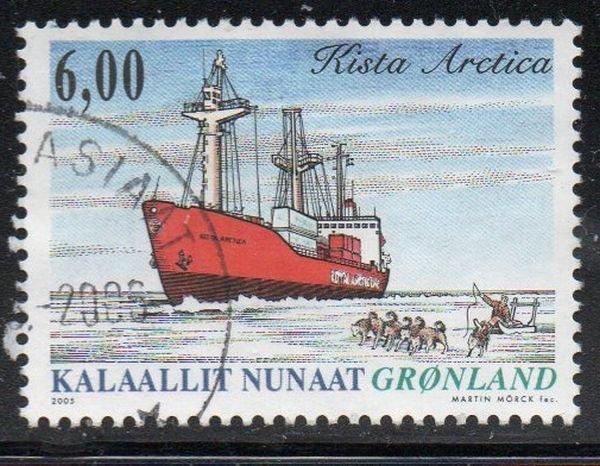 Greenland Sc 453 2005 6.0 kr ship Kista Artica stamp used
