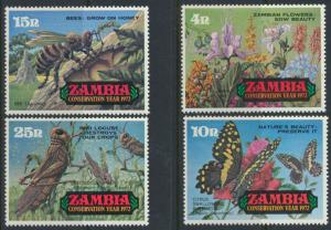 Zambia  SG 177-180  SC# 86-89 MNH  Conservation Year  see detail and scan
