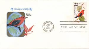 #2306 Scarlet Tanager Farnam FDC