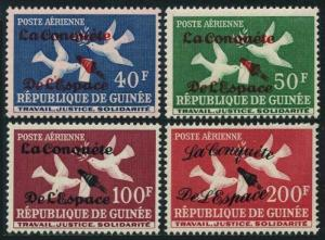 Guinea C35-C38,hinged.Michel 145-II-148-II. The conquest of space,1962.