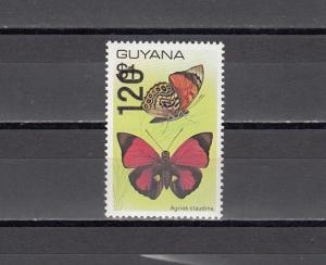 Guyana, Scott cat. 1913. Butterfly definitive Surcharged 120.