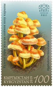 Stamps of Kyrgyzstan 2019. - Stamp.  123M. Sulfur Tuft .
