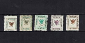 Albania: 1917 definitives, part set including 1 franc value, fine used.