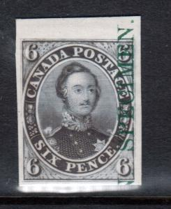 Canada #2TCvi Extra Fine Plate Proof India Paper On Card With Specimen In Green