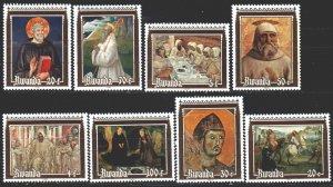Rwanda. 1981. 1135-42. Bible motives, horse. MNH.