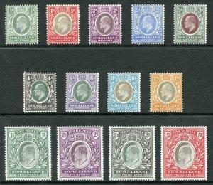 Somaliland SG32/44 1904 set of 13 Fine M/Mint