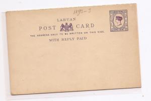 Labuan QV 1c Reply Card PSC mint (bag)