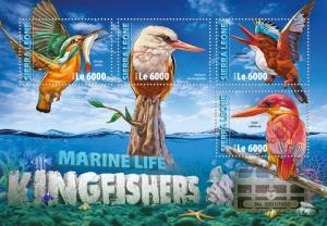 Sierra Leone MNH S/S Kingfisher Birds 2016