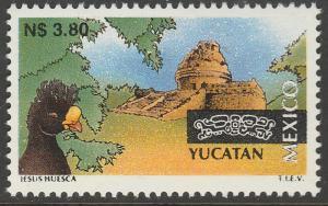 MEXICO 1801, N$3.80 Tourism Yucatan, bird, archeology. Mint, Never Hinged F-VF.