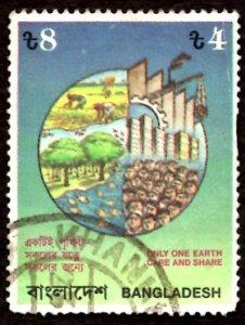 Bangladesh TK.4/- Environmental Pollution Control 1992 Sc.408 Used (#1)