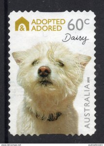 ADOPTED ADORED - DAISY 60c BOOKLET SELF-ADHESIVE stamp from AUSTRA