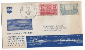 United States, 788, 790, First Flight United Postal History Air Mail Cover, Used