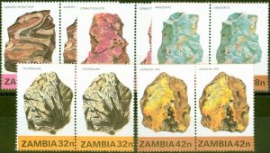 Zambia 1982 Minerals 1st Series Set of 5 SG360-364 Very Fine MNH Pairs