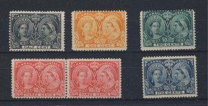 6x Canada Victoria Jubilee Mint Stamp #50 #51 #52 #53x2 #54 Guide value=$142.00