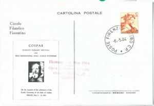 72192 - ITALY - Postal History - Special postcard - Galileo Galilei SPACE 1964
