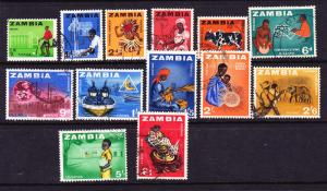 ZAMBIA   1964 DEFINITIVES  PART SET 13 FU