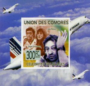 Comoro Islands 2009 GAINSBOURG BIRKIN Deluxe s/s Mint (NH)
