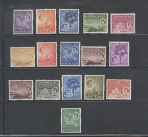Seychelles  173/190 Mint VF H