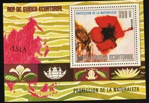 Equatorial Guinea #MiBl310 MNH S/S CV€5.00 Asian Flowers