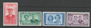 Basutoland 1947 Royal Visit Scott # 35 - 38 MH