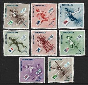 Dominican Republic Scott #479-483; C100-C102 Mint Olympics set  2019 CV $2.40