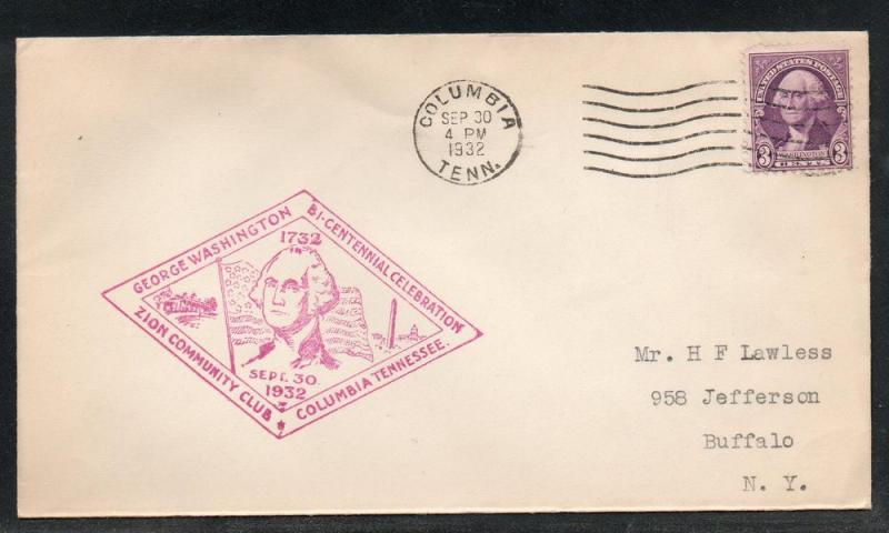 US Columbia TN Washington Bicentennial 1932 A298