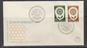 NETHERLANDS, 1964 Europa pair on First Day cover.