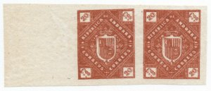 (I.B) Andorra Postal : Arms of The Republic 20c (die proof)