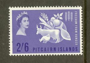 Pitcairn Islands Scott #35, 2sh6p Freedom from Hunger, MH