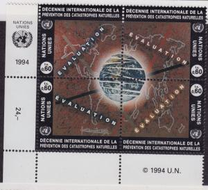 UN GENEVA MNH Scott # 251-254 Int Decade for Natural Disasters Inscription B(4)2