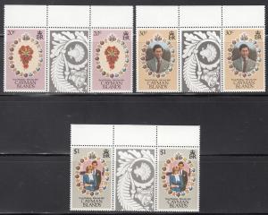 Cayman Islands, Sc 471-473, MNH, Royal Wedding, Gutter Pair