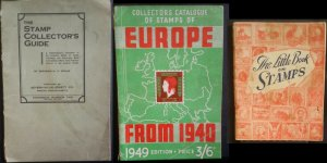 Vintage Stamp Collectors Books  Collectors Guide Europe 1949 Little Book Stamps