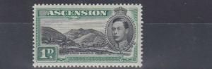 ASCENSION 1938 - 53  S G 39  1D  BLACK & GREEN MH