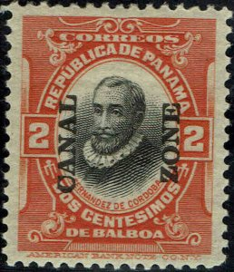 CANAL ZONE #56 1920 2c OVERPRINT ISSUE--MINT-OG/LITE HINGED--XF