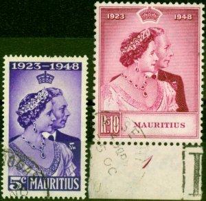Mauritius 1948 RSW Set of 2 SG270-271 Very Fine Used