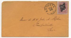 US Scott #83 C-Grill Stamp on Cover Augusta GA Feb 26th CDS With Weiss CERT