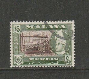 Malaya Perlis 1957/62 Defs $5 Used SG 40