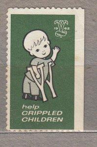 Label 1962 Help Crippled Children Mint No Glue #HS243