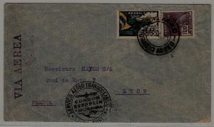Brazil/France Zeppelin cover folded 17.10.34