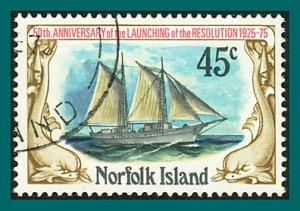 Norfolk Island 1975 Resolution, 45c used  #193,SG171
