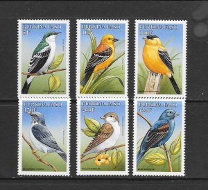 BIRDS - BURKINA FASO #1098-1103  MNH