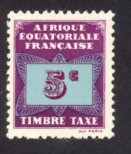 French Equatorial Africa J1 MH