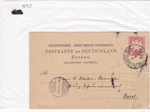 German Postal History Stamps Cover 1883 Ref 8750