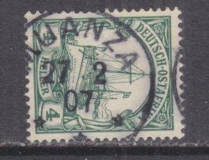 GERMAN EAST AFRICA, 1905 Yacht, MUANZA cds.