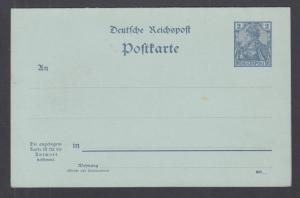Germany Mi P46b mint. 1900 2pf Double Reply Postal Card, w/o watermark