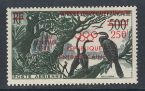 Central African Republic, Sc C4 MNH.1960 Olympic Air Mail Surcharge, cplt set VF