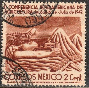 MEXICO 777, 2¢ Agricultural Conference. Used. F-VF. (737)