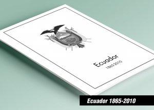 PRINTED ECUADOR 1865-2010 STAMP ALBUM PAGES (441 pages)