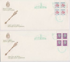 CANADA FDC FROM HOUSE OF COMMONS STAMPS #791,923  LOT#M107