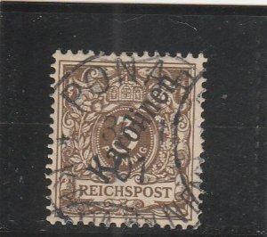 Caroline Islands  Scott#  1  Used  (1900 Overprint)